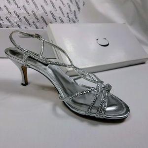 "Caparros ""Pandora"" Silver Metallic Heels [NWB]"